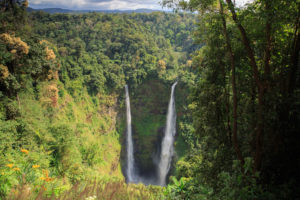 The spectacular Tad Fane waterfall located in Tad Lo, Bolaven Plateau, southern Laos